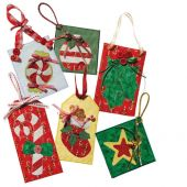 MERRY ORNAMENTS & TAGS QUILT PATTERN*