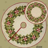 Peppermint Wreaths Tree Skirt & Table Topper Pattern