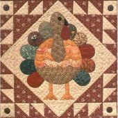 TURKEY FEATHERS QUILT PATTERN