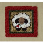 Round Sheep Punchneedle Embroidery Kit