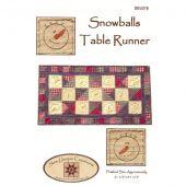 Snowballs Table Runner Pattern