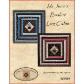 Ida June's Basket Log Cabin Mini Quilt Pattern