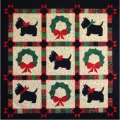 A Scottie Christmas Greeting Quilt Pattern
