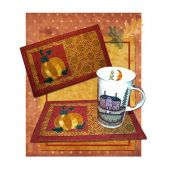 Autumn Harvest Beverage Mat Pattern
