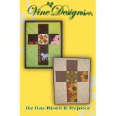 He Has Risen & Rejoice Wall Hanging/Banner Pattern