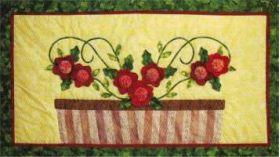 Sassy Dahlias Wall Quilt Pattern
