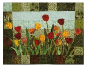 Tulip Fields Wall Quilt Pattern