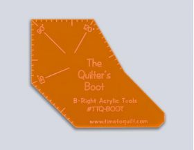 THE QUILTER'S BOOT ACRYLIC TEMPLATE