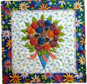 Tussy Mussy Mums Wall Quilt Pattern
