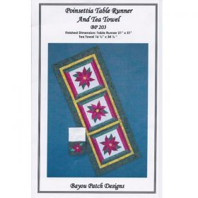 Poinsettia Table Runner and Tea Towel Pattern