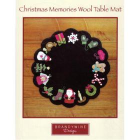 Christmas Memories Wool Table Mat Quilt Pattern