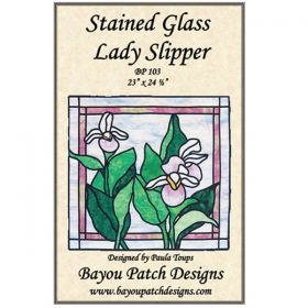 Stained Glass Lady Slipper Pattern
