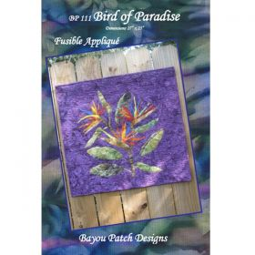 Bird Of Paradise - Fusible Applique' Pattern
