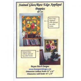 Stained Glass/ Raw Edge Applique Poppies Pattern