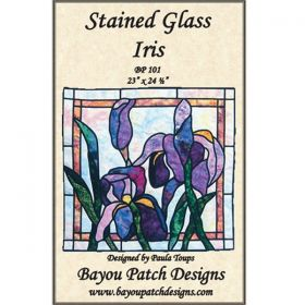 Stained Glass Iris Pattern