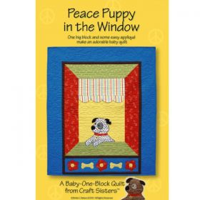 Peace Puppy in the Window Quilt Pattern