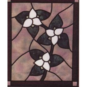 TRILLIUMS STAINED GLASS PATTERN*