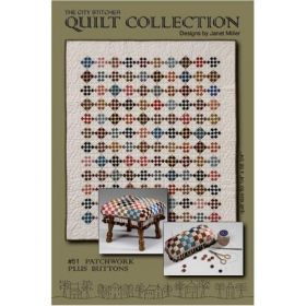 Patchwork Plus Buttons Quilt Pattern