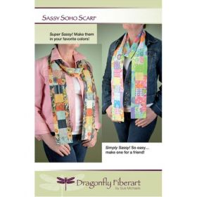 Sassy Soho Scarf Quilt Pattern Card
