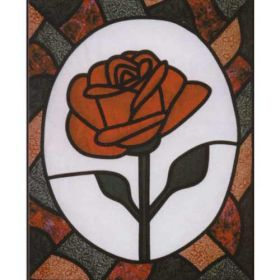 ROSE STAINED GLASS  PATTERN*