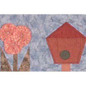 CALENDAR CHARM-ROW 5 MAY FLOWERS & BIRDHOUSES