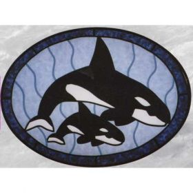 WHALES STAINED GLASS PATTERN*