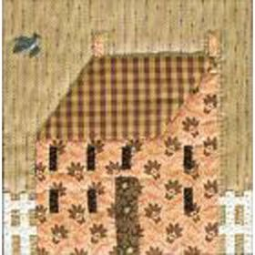 QUILTED VILLAGE #5 PETITE HOUSE WITH PICKETS