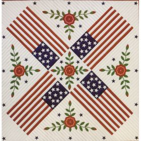 PATRIOTIC ROSE QUILT PATTERN
