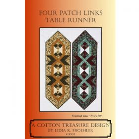 FOUR PATCH LINKS TABLE RUNNER PATTERN