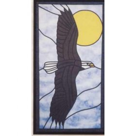 SOARING EAGLE STAINED GLASS PATTERN*