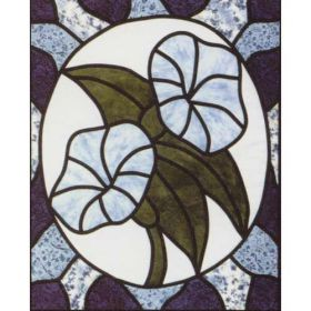MORNING GLORY STAINED GLASS  PATTERN*
