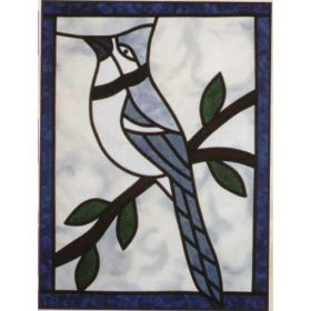 BLUE JAY STAINED GLASS PATTERN*