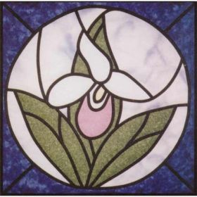 LADYSLIPPER STAINED GLASS PATTERN*