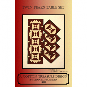 Twin Peaks Table Set Quilt Pattern