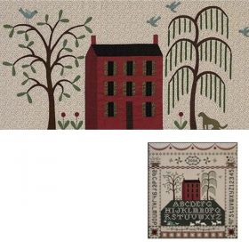 PASTORAL SAMPLER-HOUSE & TREES