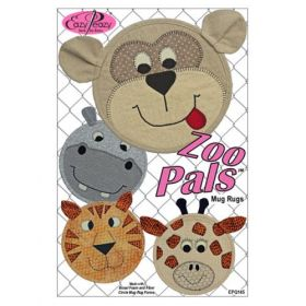 Zoo Pals Mug Rugs Quilt Pattern