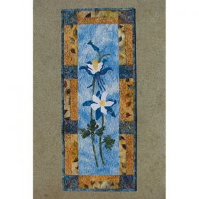 Colorado Columbines Wall Hanging Quilt Pattern