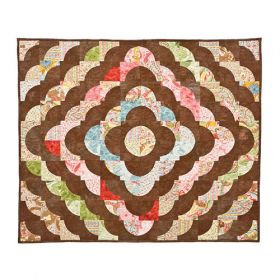 CHOCOLATE GO ROUND QUILT PATTERN