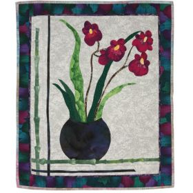 GRACEFUL ORCHIDS QUILT PATTERN