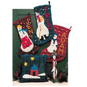 CHRISTMAS IN CHENILLE STOCKING PATTERN