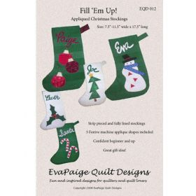 FILL 'EM UP! STOCKINGS QUILT PATTERN*