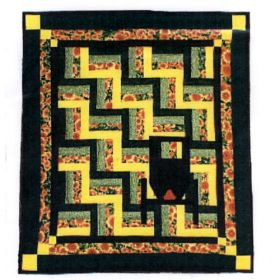 BUGGY BY THE FENCE RAIL QUILT PATTERN