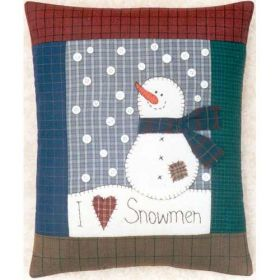 I LOVE SNOWMEN PATTERN