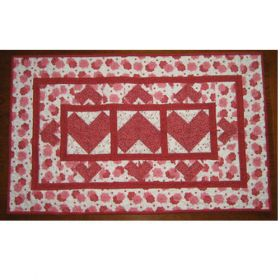 HEART TABLE  QUILT