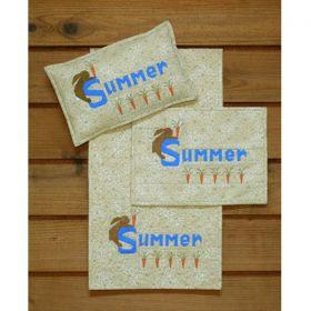Summer Runner, Wall Quilt, and Pillow Pattern