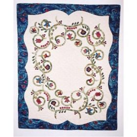 Jacobean Spring Wall Quilt Pattern