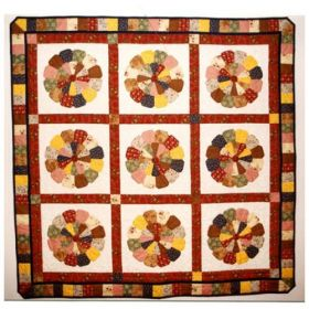 Zinnia Patch Wall Quilt Pattern