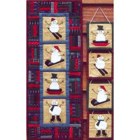 SET OF FOUR ORNAMENTS/WINTER WALL QUILT PATTERN 2000