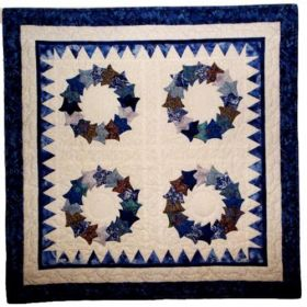 Tulip Dishes Wall Quilt Pattern