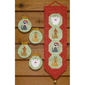 CHRISTMAS KITTENS BELL PULL & SET/4 ORNAMENTS PATTERN